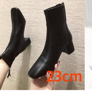 【本日限定特価】スクエアトゥ ショート ブーツ 韓国 zara moussy(ブーツ)