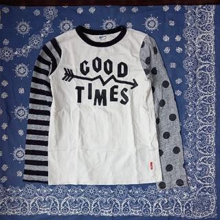 BREEZE - ブリーズ 袖の柄が違う♪おしゃれなTシャツ 140㎝