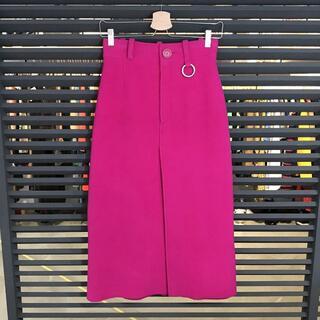 バレンシアガ(Balenciaga)の超美品 バレンシアガ 2018AW ロングスカート ショッキングピンク(ロングスカート)