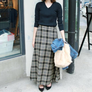 IENA SLOBE - 美品☆SLOBE IENA スローブイエナ ツイードチェック マキシスカート