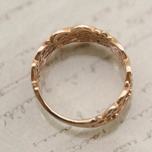 agete(アガット)のアガット 透かし リング k10 レディースのアクセサリー(リング(指輪))の商品写真