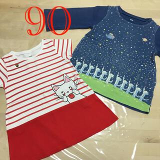 Design Tshirts Store graniph - graniph 11ぴきのねこ、のんたん ワンピース 90