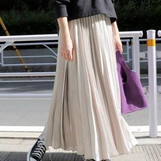 IENA SLOBE - スローブイエナ サテンプリーツロングスカート スカート ロングスカート