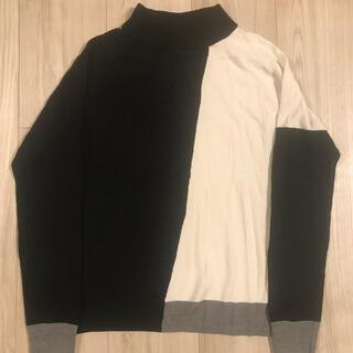 アズールバイマウジー(AZUL by moussy)のAZUL by moussy モノトーンデザインセーターS(ニット/セーター)