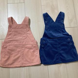 MUJI (無印良品) - ベビー服 無印良品 ワンピース 2枚セット