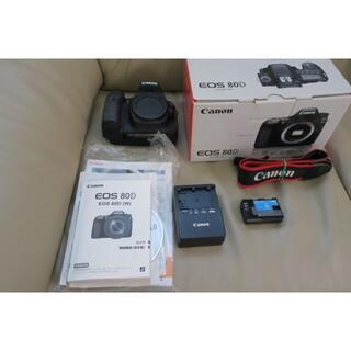 美品 Canon デジタル一眼レフ ボディ EOS 80D ボディ