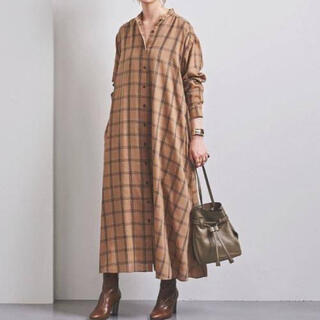 UNITED ARROWS - 『UNITED ARROWS』定価2,6万 チェック シャツワンピース