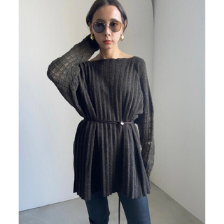 Ameri VINTAGE - SHEER SLEEVE PLEATS KNIT