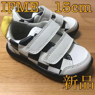 ampersand - 新品【15.0cm】IFME Light×ampersandチェック柄スニーカー