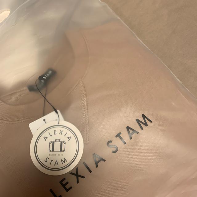 ALEXIA STAM(アリシアスタン)のアリシアスタン  ALEXIASTAM ロゴ トレーナー レディースのトップス(トレーナー/スウェット)の商品写真