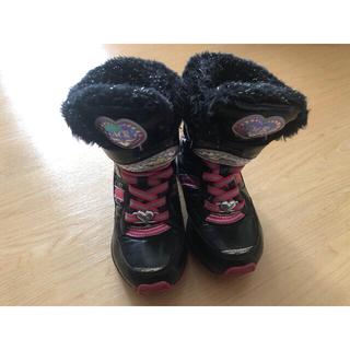 ムーンスター(MOONSTAR )のムーンスター スノーブーツ 19cm 女の子 キッズ 冬用 靴 長靴 ピンク 黒(ブーツ)