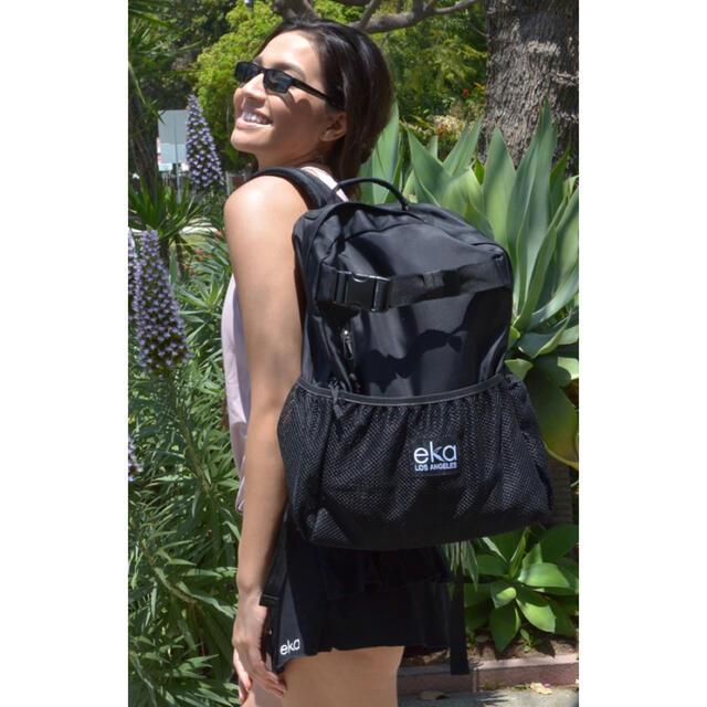 ☆【ほぼ新品、美品】eka ヨガリュック ブラック レディースのバッグ(リュック/バックパック)の商品写真