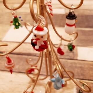 クリスマスツリー ガラス製 オーナメント インテリア 置物 Xmas(置物)