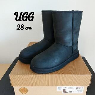 UGG - UGG Deco アグ ムートンブーツ メンズ シープスキン レザー 防水 黒