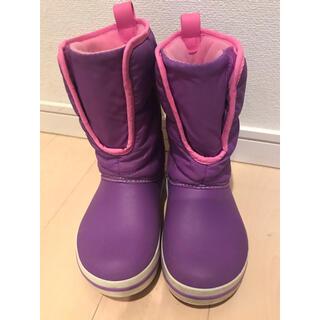 crocs - 送料込み 美品【クロックス】光るウィンター パフ ブーツ キッズ 18.5cm