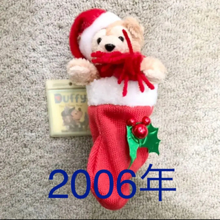 ダッフィー(ダッフィー)の★2006★ぬいぐるみバッジ ダッフィー ディズニー 初期 オープンマウス(キャラクターグッズ)