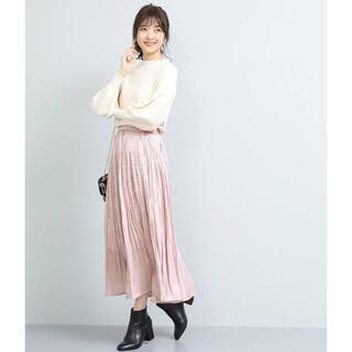 ViS - 【Vis】シャイニーサテンフェードアウトプリーツスカート