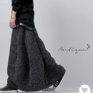 antiqua - antiqua  ツイード コクーンロングスカート