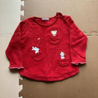 ファミリア(familiar)のお値下げ ファミリア 赤 厚ロンT 90(Tシャツ/カットソー)
