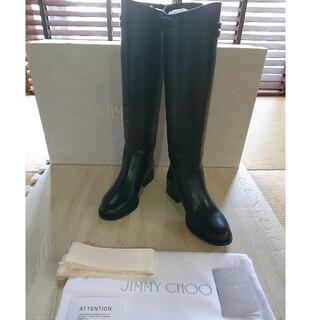 JIMMY CHOO - 新品!ジミーチュウ JIMMY CHOO ロングブーツ ブーツインに 送料無料
