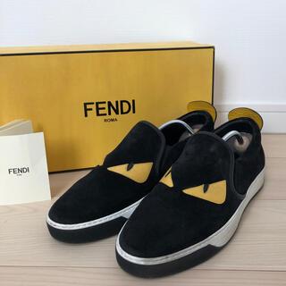 フェンディ(FENDI)の【美品】FENDIフェンディ モンスタースニーカー 8 黒 スタッズ 箱付き(スニーカー)