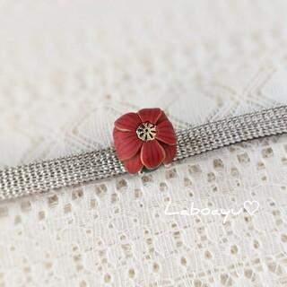 帯留め〈Bouquet・ポインセチア・盛り〉(リース)