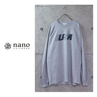 nano・universe - STANDING DOUBLE nano・universe別注 プリントロンT