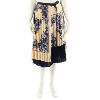 サカイ(sacai)の最終 サカイ Sacai ラッププリーツスカート サイズ2(ひざ丈スカート)