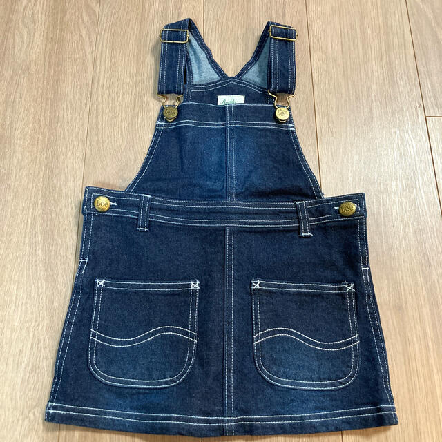 Lee(リー)のLee  デニムジャンパースカート 95㎝ キッズ/ベビー/マタニティのキッズ服女の子用(90cm~)(ワンピース)の商品写真