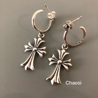 Chrome Hearts - クロムハーツ CHクロス フープピアス 両耳