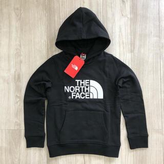 THE NORTH FACE - 【海外限定】ノースフェイス キッズ ビッグロゴ パーカー ブラック 140cm