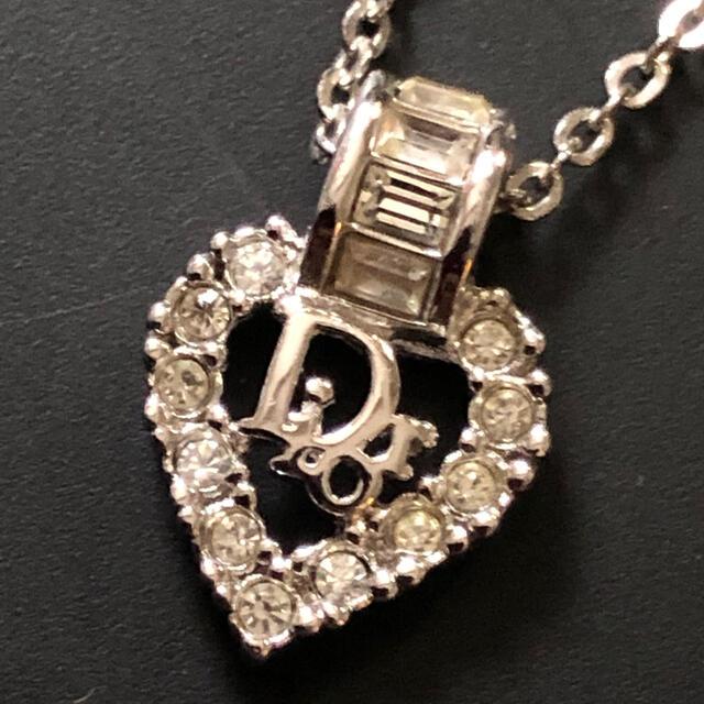 Christian Dior(クリスチャンディオール)のクリスチャンディオール ヴィンテージ ロゴ ビジュー ネックレス 値下げ レディースのアクセサリー(ネックレス)の商品写真