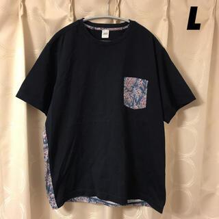 タケオキクチ(TAKEO KIKUCHI)の【美品】TAKEO KIKUCHI×LIBERTY 花柄 フラワー Tシャツ 3(Tシャツ/カットソー(半袖/袖なし))