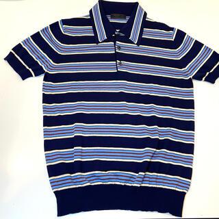プラダ(PRADA)の美品 PRADAニット プラダニット ポロシャツ 半袖ニット(ニット/セーター)