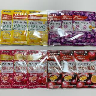 グミサプリ 計12袋 鉄分 ビタミンC 大豆イソフラボン マカ&亜鉛