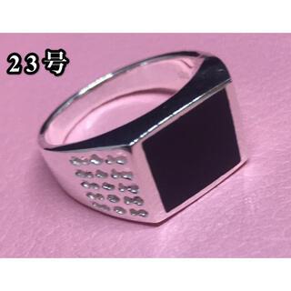 印台オニキス銀シルバー925リング指輪スターリングSILVER925シグネット(リング(指輪))