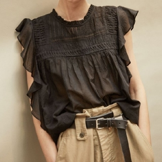 Isabel Marant - 【新品・正規品】イザベルマラン🔷LAYONA フリル袖ブラウス🎁