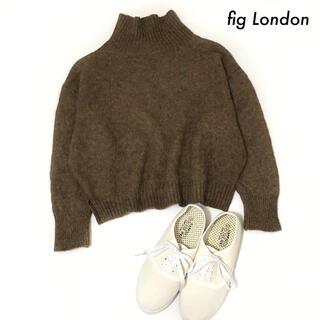 fig London - fig London フィグロンドン★タートルニット 長袖 セーター ブラウン