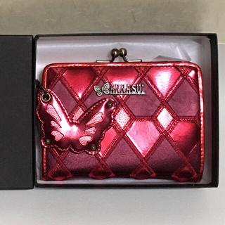 アナスイ(ANNA SUI)のANNA SUI がま口付き 折り財布 バタフライチャーム付き 未使用(財布)