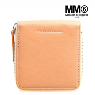 エムエムシックス(MM6)のMM6 折り財布 ラウンドファスナー ベージュ(財布)
