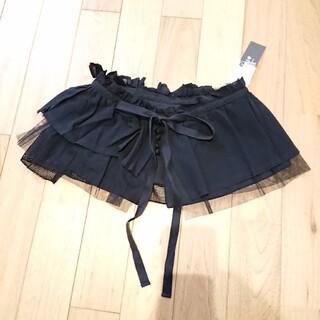 シャンブルドゥシャーム(chambre de charme)の新品 ★malle ショートエプロン 付け衿 つけ襟 ブラック(つけ襟)