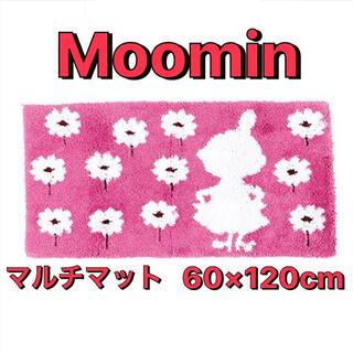 リトルミー(Little Me)のムーミン リトルミィ マット マルチマット ピンク 花柄 バスマット(玄関マット)