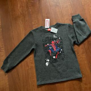 マーベル(MARVEL)のスパイダーマン 長袖 トレーナー 130 グレー 男の子 マーベル(Tシャツ/カットソー)