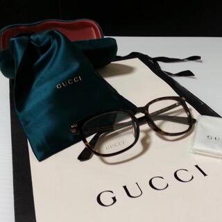 Gucci - 値引き中 定価 3.4万 GUCCI グッチ 伊達メガネブラウン