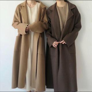 TODAYFUL - NUEbyas wool coat ウールコート チャコールブラウン