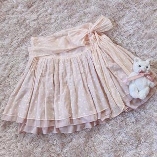 エブリン(evelyn)の今週限定 pink ribbon skirt(ミニスカート)
