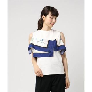 ルシェルブルー(LE CIEL BLEU)のLE CIEL BLEU パネルスカーフトップス(Tシャツ(半袖/袖なし))