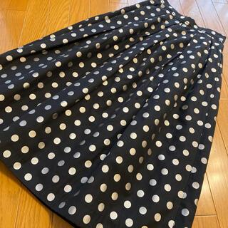 IENA - iena la boucle ◆イエナ◆ドットスカート◆ブラック×グレー◆36