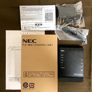 エヌイーシー(NEC)の【良品・保証あり】NECルーター PA-WG1200HS4(PC周辺機器)