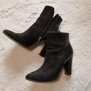リエンダ(rienda)のrienda ショートブーツ ブラック(ブーツ)